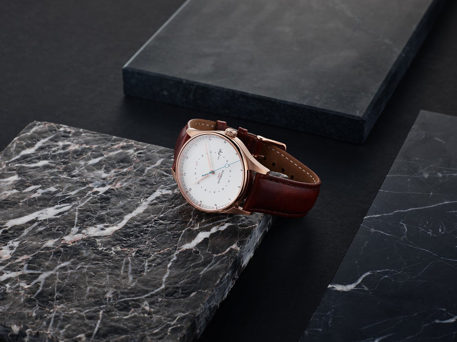 1820 Automatic, Rose Gold / White