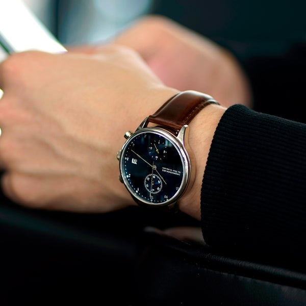 1815 Chronograph, Steel / Blue Sunray