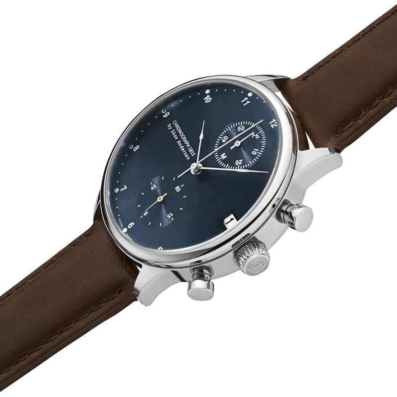 1815 Chronographe, Steel / Blue Sunray