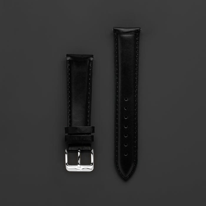 Pin Buckle - Black Leather