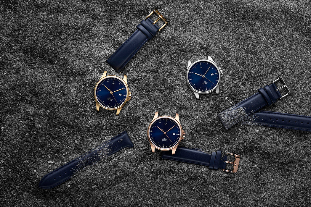 1971 Automatic, Gold / Night Blue Sunray - Swiss Made