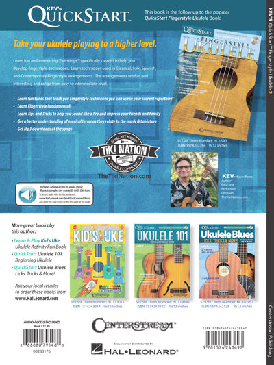 Kev's QuickStart for Fingerstyle 2 Ukulele Book