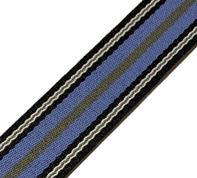 Ukulele Strap STRAP/SD25 Blue Grey Stripes