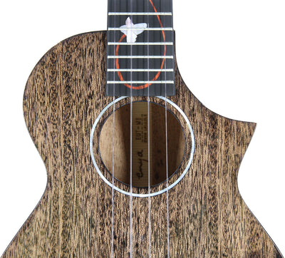 Enya All-Solid Mahogany Tenor Ukulele M6 (Black)