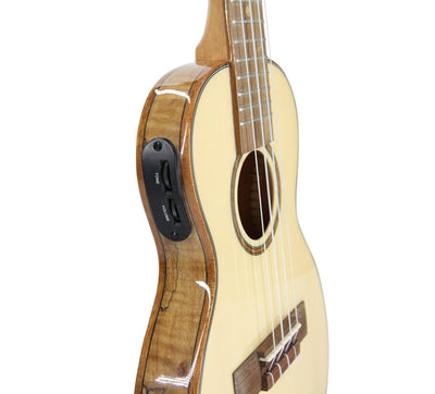 Leho Solid Spruce / Flame Maple Thin-Body Concert w/EQ
