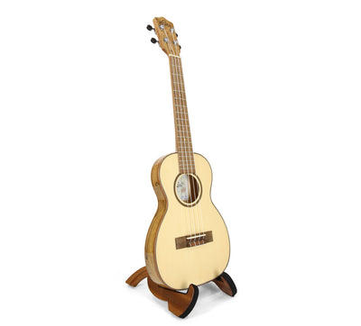 Leho Solid Spruce / Flame Maple Thin-body Tenor