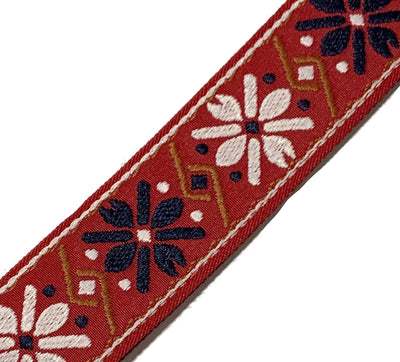 Ukulele Strap STRAP/SD27 Red White Flower