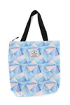Hawaiian Tote Bag - Geometric Blue 10