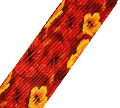 Ukulele Strap STRAP/SD11 Red Hibiscus