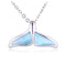 Larimar Sterling Silver Whaletail Pendant(Chain Sold Separately) - Hanalei Jeweler