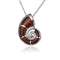 925 Sterling Silver Nautilus Shell with Koa Wood Inliad Pendant - Hanalei Jeweler