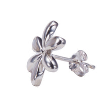 Plumeria Sterling Silver Post Earring Mother-of-pearl Inlay - Hanalei Jeweler