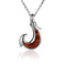 925 Sterling Silver Koa Wood Inlaid Fish Hook Pendant(S) - Hanalei Jeweler