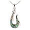 Sterling Silver Abalone Fish Hook Pendant - Hanalei Jeweler