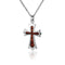 KOA Wood inlaid Sterling Silver Cross Pendant - Hanalei Jeweler