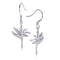 Bird of Paradise Pave Cubic Zirconia Sterling Silver Hook Earring - Hanalei Jeweler