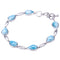 Larimar Inlay Sterling Silver Water Drop Shape Bracelet - Hanalei Jeweler