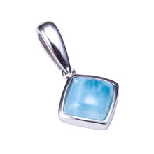 Larimar Inlay Diamond Shape Sterling Silver Pendant(Chain Sold Separately) - Hanalei Jeweler