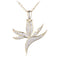 Sterling Silver Yellow Gold Plated Pave Cubic Zirconia Bird of Paradise Pendant(Chain Sold Separately) - Hanalei Jeweler