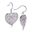 Sterling Silver Anthurium Leaf Hook Earring Pave CZ(Chain Sold Separately) - Hanalei Jeweler