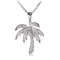 Sterling Silver Pave Cubic Zirconia Palm Tree Pendant(Chain Sold Separately) - Hanalei Jeweler