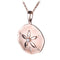 Sterling Silver Pink Gold Plated Sand Dollar Pendant Sandblast Finished(Chain Sold Separately) - Hanalei Jeweler