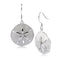 Sterling Silver Sand Dollar Hook Earring Sandblast Finished - Hanalei Jeweler