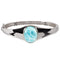 Sterling Silver Stand-Oval Larimar Bangle Bracelet - Hanalei Jeweler