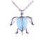 Larimar Honu(Turtle) Sterling Silver Pendant(Chain Sold Separately) - Hanalei Jeweler