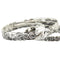 Hawaiian Sterling Silver Bangle Queen Scroll Engraving Cut Out Edge