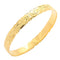 Classic Style Sterling Silver Hawaiian Bangle Heirloom Scrolling Yellow Gold Plated
