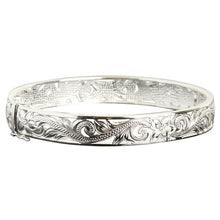 Hawaiian Jewelry Scroll See Through Open Bangle - Hanalei Jeweler