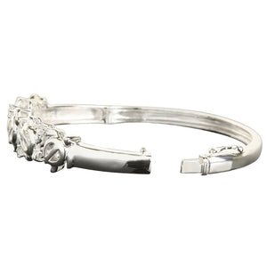 Hawaiian Jewelry 5 Honu Open Bangle - Hanalei Jeweler