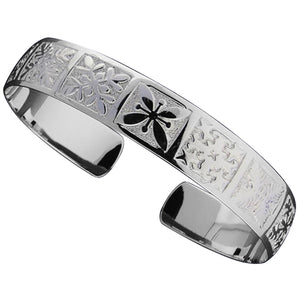 Hawaiian Jewelry Quilt One Tone Cuff Bangle - Hanalei Jeweler
