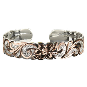 Hawaiian Jewelry Scroll Cut Out Pink Cuff Bangle - Hanalei Jeweler