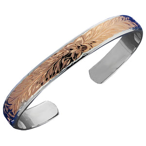 Hawaiian Jewelry Double Bangle 10x8mm Maile PG - Hanalei Jeweler