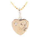 Sterling Silver Scroll Heart CZ Pendant (S) PG - Hanalei Jeweler