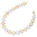 14k Gold Plumeria Linked Bracelet 8mm/11mm - Hanalei Jeweler