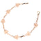 14k Pink Gold Plumeria Twist Bar Bracelet - Hanalei Jeweler