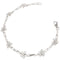 14k White Gold Plumeria Twist Bar Bracelet - Hanalei Jeweler