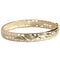 14k Yellow Gold See Through Maile Leaf Bangle 10mm - Hanalei Jeweler