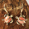 Yellow Gold Pink Coral Inlaid Honu(Hawaiian Turtle) Hook Earring - Hanalei Jeweler