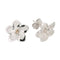 White Gold Plumeria Post Earring 13mm