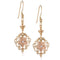 14K YG/PG Fancy Plumeria Hook Earring - Hanalei Jeweler