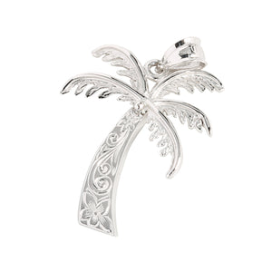 White Gold Palm Tree Pendant(M)