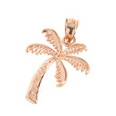 Pink Gold Palm Tree Pendant(S) - Hanalei Jeweler