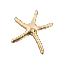 Yellow Gold Starfish Pendant(S, L)