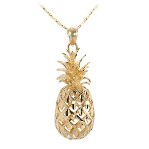 Yellow Gold Pineapple Pendant(L)