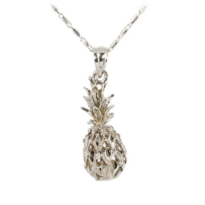White gold Pineapple Pendant(S, M) - Hanalei Jeweler