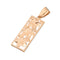 14K Pink Gold Three Plumeria Vertical Pendant - Hanalei Jeweler